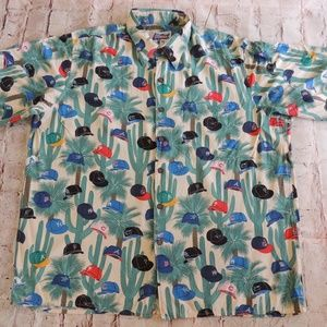 Reyn Spooner MLB Cactus League Hawaiian Shirt L